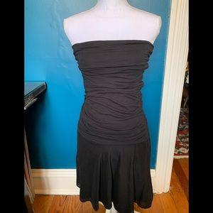 Velvet Graham & Spencer strapless black dress
